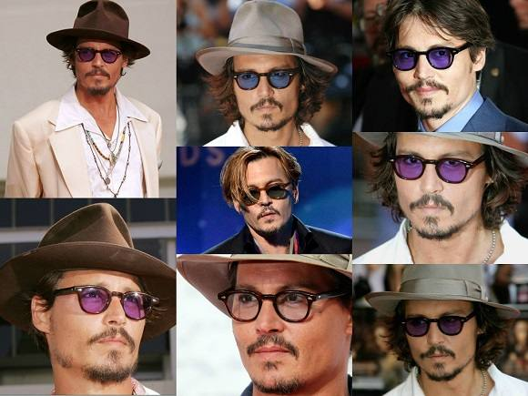 Johnny Depp indossa Moscot Lemtosh
