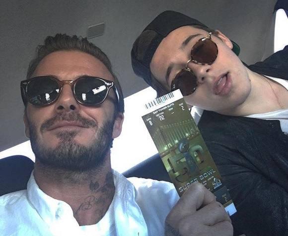 David Beckham in Moscot Lemtosh Tobacco